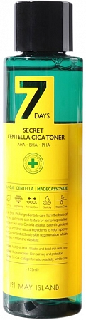 May Island~Тонер для проблемной кожи с экстрактом центеллы~7Days Secret Centella Cica Toner
