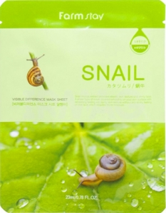 FarmStay~Тканевая маска с муцином улитки~Visible Difference Mask Sheet Snail
