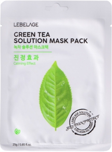 Lebelage~Тканевая маска с экстрактом зеленого чая~Green Tea Natural Mask
